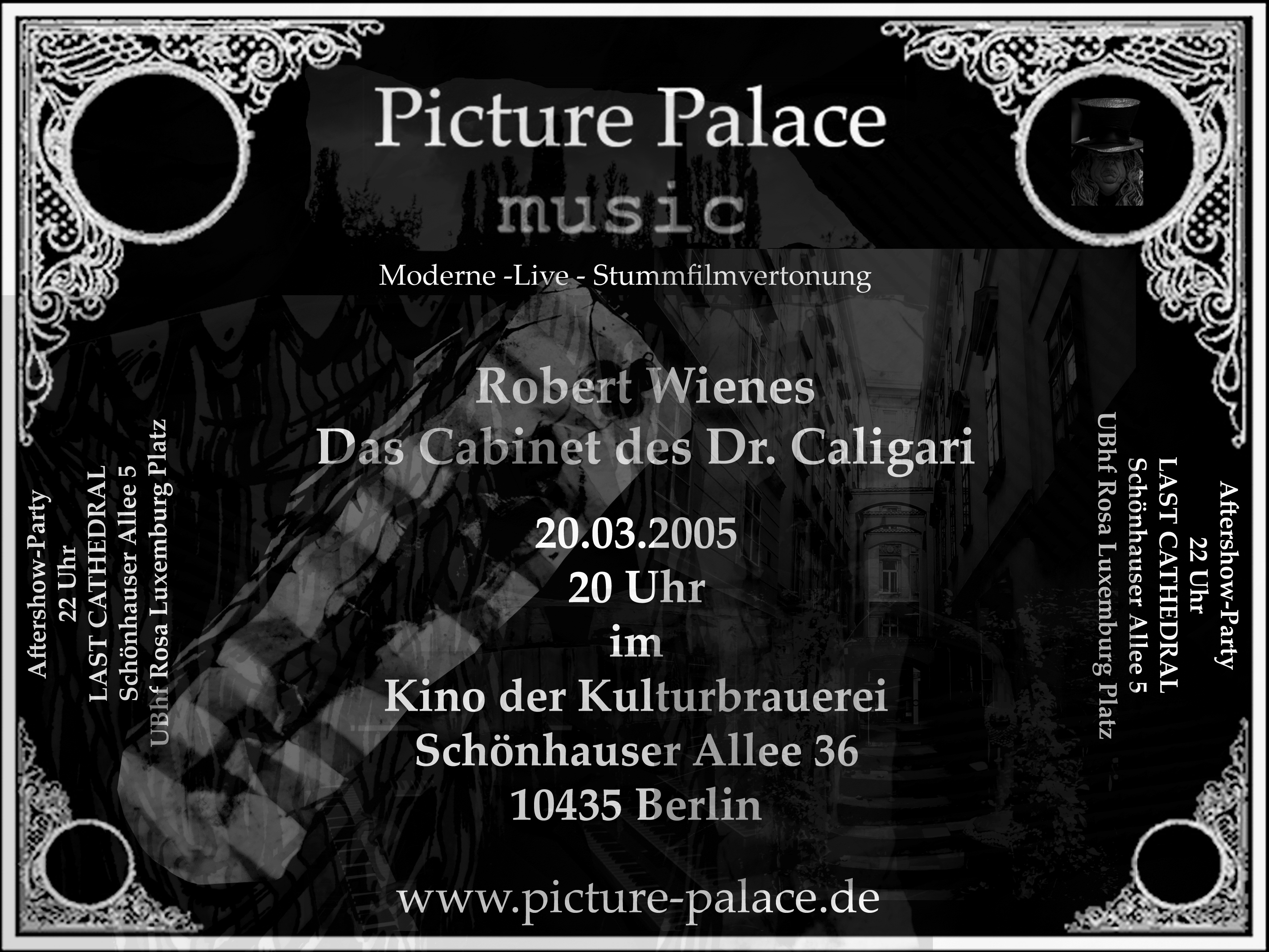 Kino in der Kulturbrauerei Das Cabinet des Dr Caligari Picture Palace music