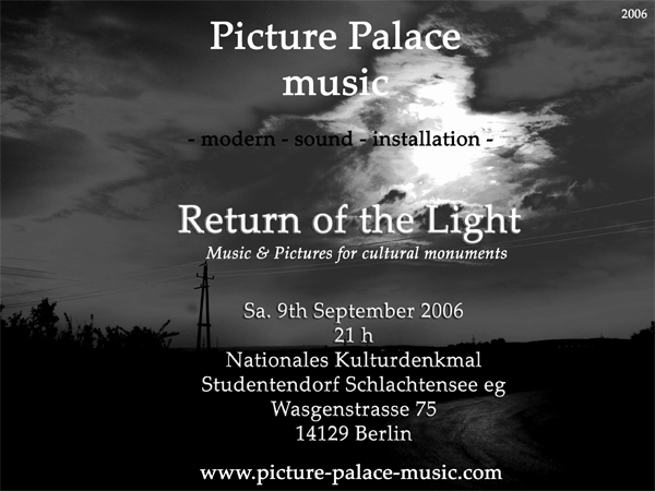 Return to the light Picture Palace music